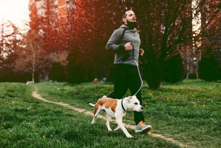 Man Jogging Dog